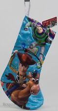 """Disney Kurt Adler 19"""" Toy Story Woody & Buzz Lightyear Christmas Stocking NWT"""