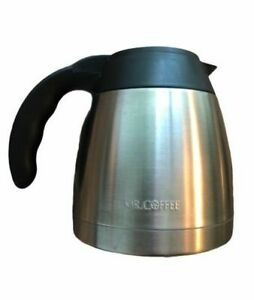 Mr. Coffee Thermal Stainless Steel Carafe w/Lid 6 Cup Replacement Thermos Pot