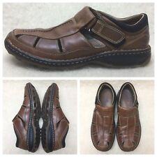 Timberland Smart Comfort Men's 11M Brown Leather Fisherman Sandals 79092
