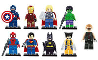 9 Pcs Marvel Comic Superheroes Fit Lego DC Mini figures Avengers MiniFig Toy UK