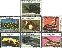 Laos 773-779 (kompl.Ausg.) gestempelt 1984 Reptilien