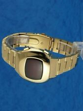 Rare old style modern futuristic 70s seventies space age mens led l.e.d watch 98