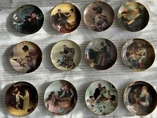 Norman Rockwell collectors plates 12 For All Time series