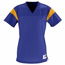 Augusta Sportswear WOMEN'S JUNIOR FIT PEP RALLY REPLICA TEE L Purple/Gold