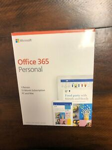 Microsoft Office 365 1 Year Subscription 1 User 1PC/Mac Key Card Fast ship
