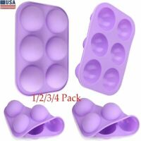 6 Cavity 3D Half Ball Sphere Cake Silicone Mold Muffin Chocolate Baking Mould US