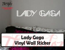 Lady Gaga Custom Wall Vinyl Sticker