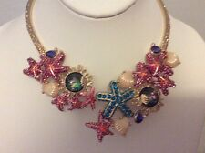 "$145 Betsey ""The Sea"" Collar Necklace BSS1"