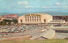 OLD Chrome Postcard CA B575 Cow Palace San Francisco Rodeo Horse Show 1950s Cars