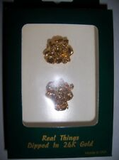 24K GOLD REAL ROSE EARINGS I LOVE YOU MADE IN USA LAST ONE