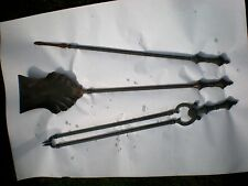 Antique Solid Brass Hearth Companion Tools