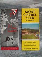 Vintage Mont Gabriel Club In Canada Travel Brochures