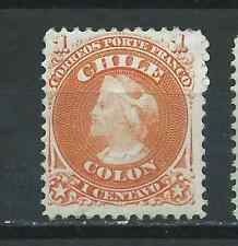CHILE 1867 first perforate 1 ct MH II
