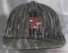 Vintage NRA ILA Green Camo Adjustable Snapback Camouflage Cap Hat Made in USA
