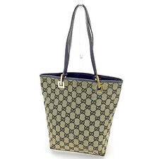 Gucci Tote bag G logos Navy Woman unisex Authentic Used T1485