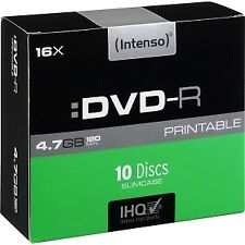 Consumible intenso DVD-R 4.7gb 10pcs 16x caja Slim Rf.70100096