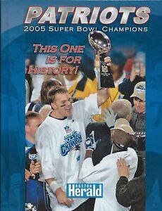 New Patriots 2005 Super Bowl Champions Commemorative Hardcover Book Tom Brady