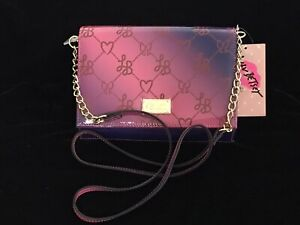 NEW! Luv Betsey 💋Betsey Johnson Patent Wallet On A String Crossbody Bag