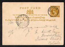 Ceylon 1901 Post Card local Kotagala to Colombo