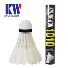Feather Shuttlecock 1010, 1 Pack(12 pcs), for playing Badminton