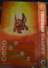 Trigger Snappy Skylanders Trap Team Stat Card Only!