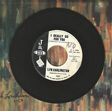 Lyn Earlington I Really Go For You Don't Make My Heart Bleed SOUL R&B 45 Record