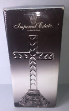 Vintage 24% Lead Crystal Cut Glass Cross Imperial Estate (Open Box)