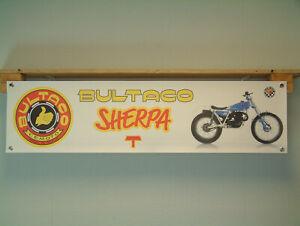 Bultaco Sherpa T Banner Motorcycle Trials Bike Off Road Workshop