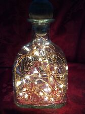 NEW Bling Electric LAMP 750ml PATRON Tequila Empty LIQUOR BOTTLE Warm White LEDs