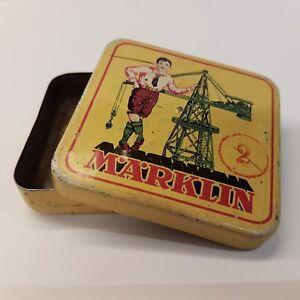 Antique German Small Parts Tin Box MARKLIN  Construction Set RARE