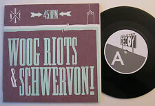 """7"""" Woog Riots & Schwervon! - People Working With Computers / Balloon - Limited"""