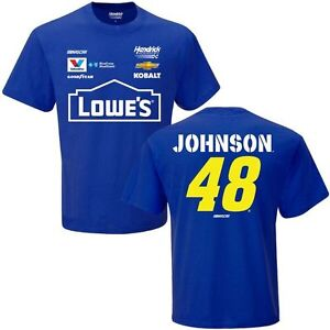 Jimmie Johnson 2017 Checkered Flag #48 Lowe's Uniform Tee FREE SHIP!