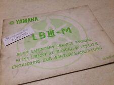 Yamaha LBIII-M Bop 50 80 LB LB3 M additif manuel atelier workshop   éd. 77