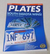 ALPCA PLATES license plate collectors magazine April 2007 Wisconsin Antiques