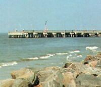 St. Simons Island Georgia Pier Rocky Coast Vintage Postcard