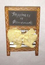 "Washboard Black Board 4"" Sign ""Happiness is Homemade"" Refrigerator Magnet"