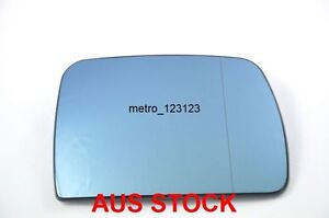 RIGHT DRIVER SIDE BMW X5 E53 2000 - 2006 MIRROR GLASS WITH HEATER BACK PLATE