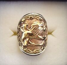 "AWESOME STERLING SILVER ZODIAC RING.ASTROLOGY-HOROSCOPE SIGN ""LEO"""