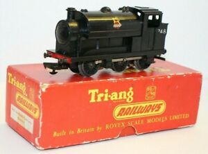 Early 1956-1958 Triang R153 OO Gauge 0-6-0 Saddle Tank Locomotive, Boxed