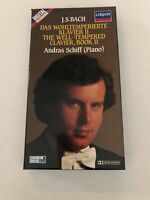 New Boxed J.S. Bach Andras Schiff London Digital Recording Cassette Tapes