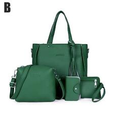 4pcs/Set Handbag Leather Shoulder Bag Purse Messenger Shopping Satchel Clutch 4x