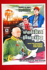 GRAND ILLUSION JEAN RENOIR JEAN GABIN 1938 DITA PARLO STROHEIM EXYU MOVIE POSTER