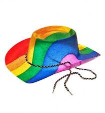 Ladies Mens Gay Pride Glitter Rainbow Cowboy Hat Carnival Festival Stetson NEW