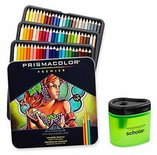 PrismaColor Premier Soft Core 72 Coloured Pencils Sharpener Tin Box Prismacolour