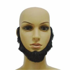 False Fake Moustache Beard Self Adhesive Facial Hair Fancy Dress Costume CF