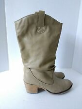 Rue 21 Etc Womens US 8/9 M Western Sand Slouch Boots PU Upper TPR Sole