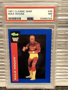 WWF HULK HOGAN Classic Wrestling Card PSA WWE Andre Giant Rookie Wrestlemania