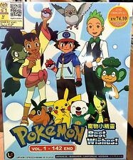Pokemon: Best Wishes (1 - 142End) ~ 10-DVD Box Set ~ Eng Sub ~ Japan Anime