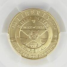 2015-W $5 Gold U.S. Marshals Service USMS Label - First Strike PCGS MS69