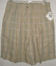 NWT WOMENS PLAID LINEN BLEND WALKING SHORTS   SIZE 15/16